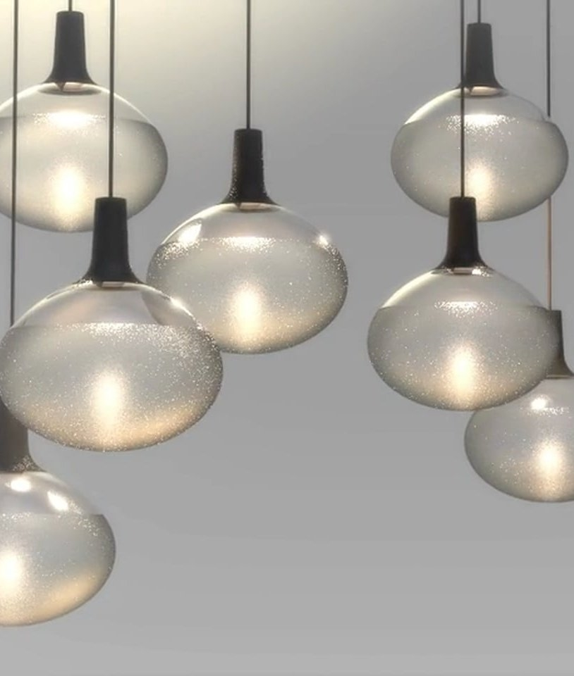 Pendant Drop Tips For Incorporating Pendant Lights Into A: Globe Glass & Black Metal LED Pendant