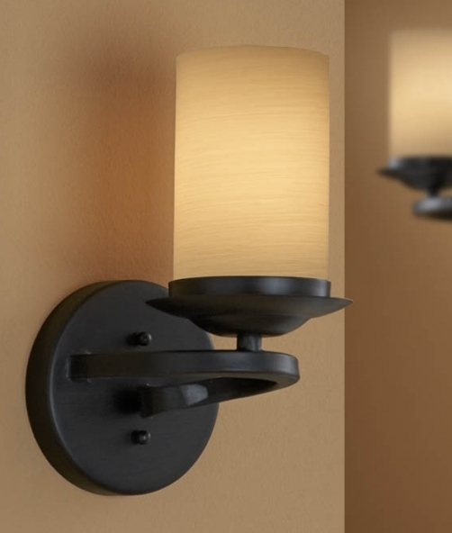 Small Glass Shades For Wall Lights : Ironwork Spiral Wall Light with Shade