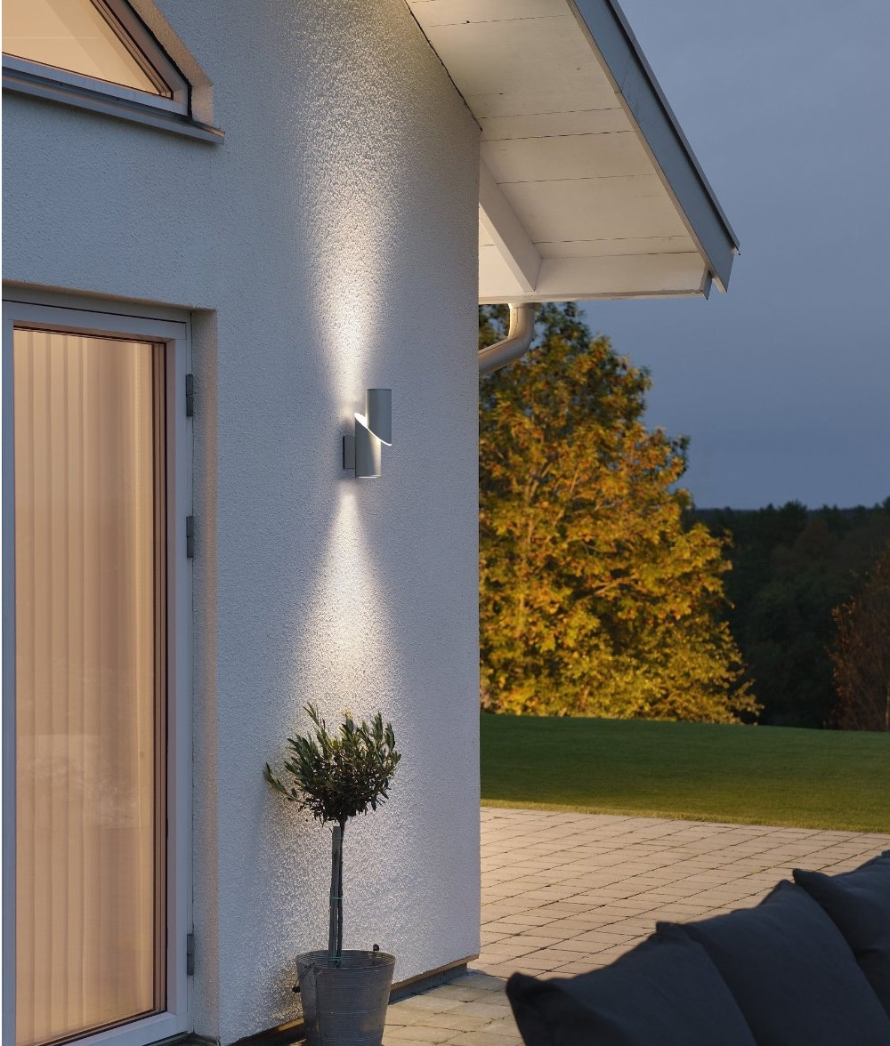 Dual Light LED Exterior Wall Light. IP54 Rated Up And Down Lighting