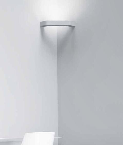 Slim Profile Corner Wall Light In Plaster Finish