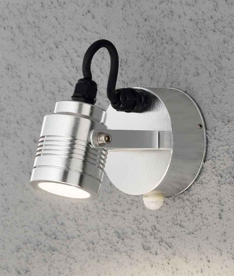 High powered led exterior adjustable wall light with pir motion sensor for Exterior wall light with motion sensor