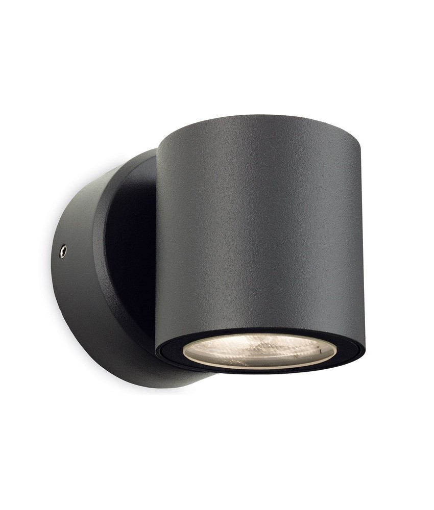 LED Graphite Round Exterior Wall Light