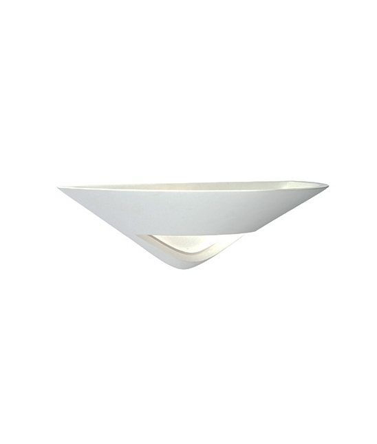 Small Solar Wall Lights : Plaster Wall Uplight with Frosted Glass Detail - priced to clear