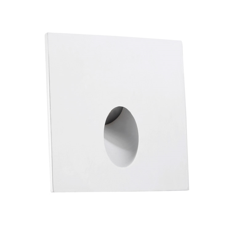 recessed led wall light for steps and low level lighting
