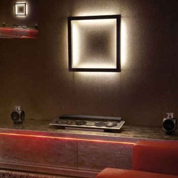 backlit square decorative wall light funky u0026 stylish hover to zoom