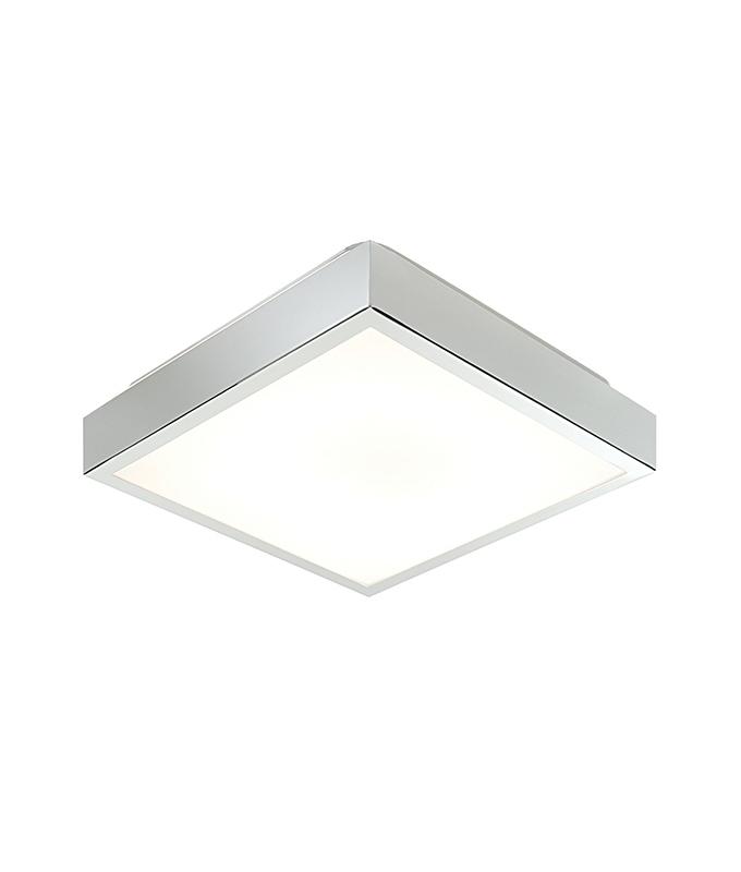 Square Chrome Flush Bathroom Fixture For 2d Fluorescent Lamps