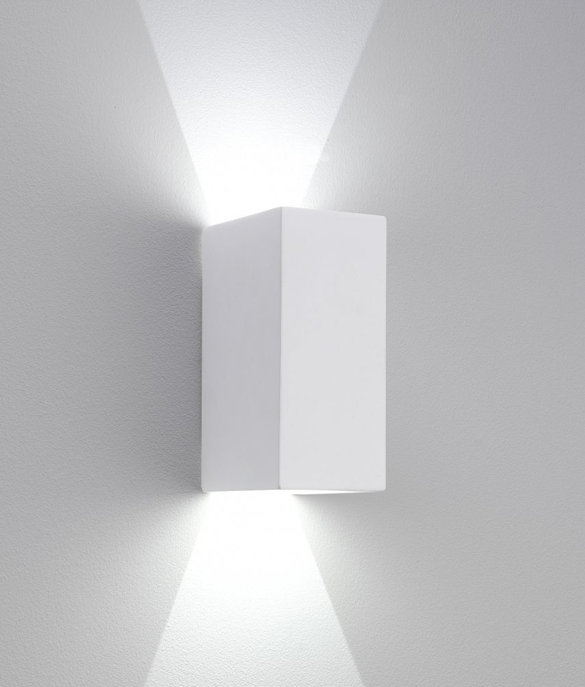 Led Sleek Up And Down Plaster Wall Light