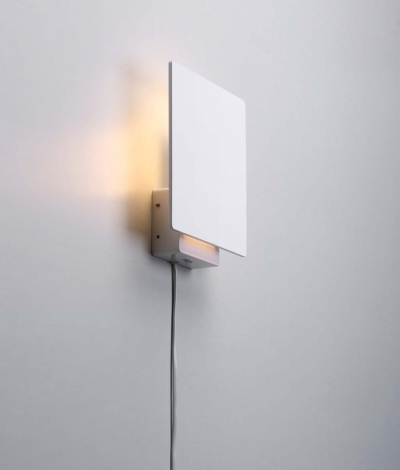 Indoor Wall String Lights : White Square Wall Light Back Lit with LEDs