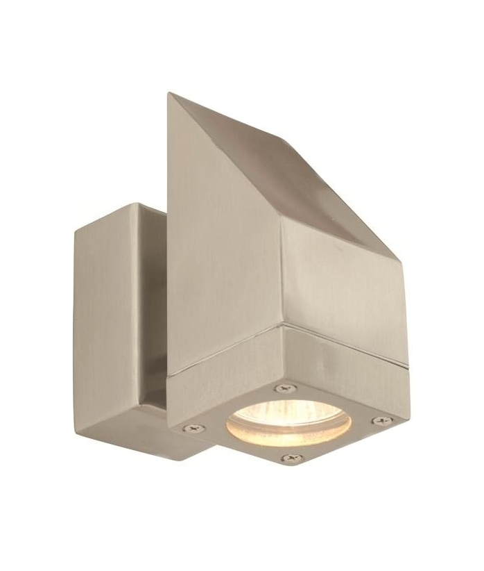 Contemporary Exterior Wall Light In Chunky Design