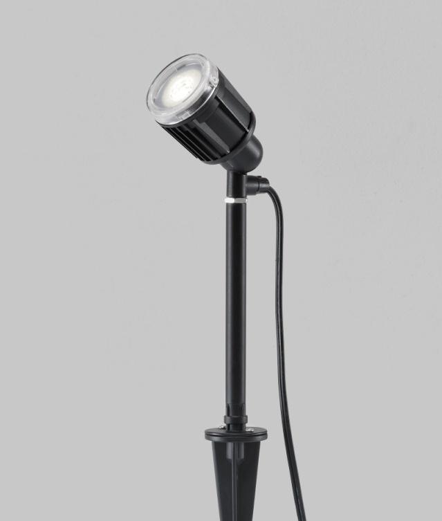 38 Innovative Outdoor Lighting Ideas For Your Garden: LED Black Garden Spike Light