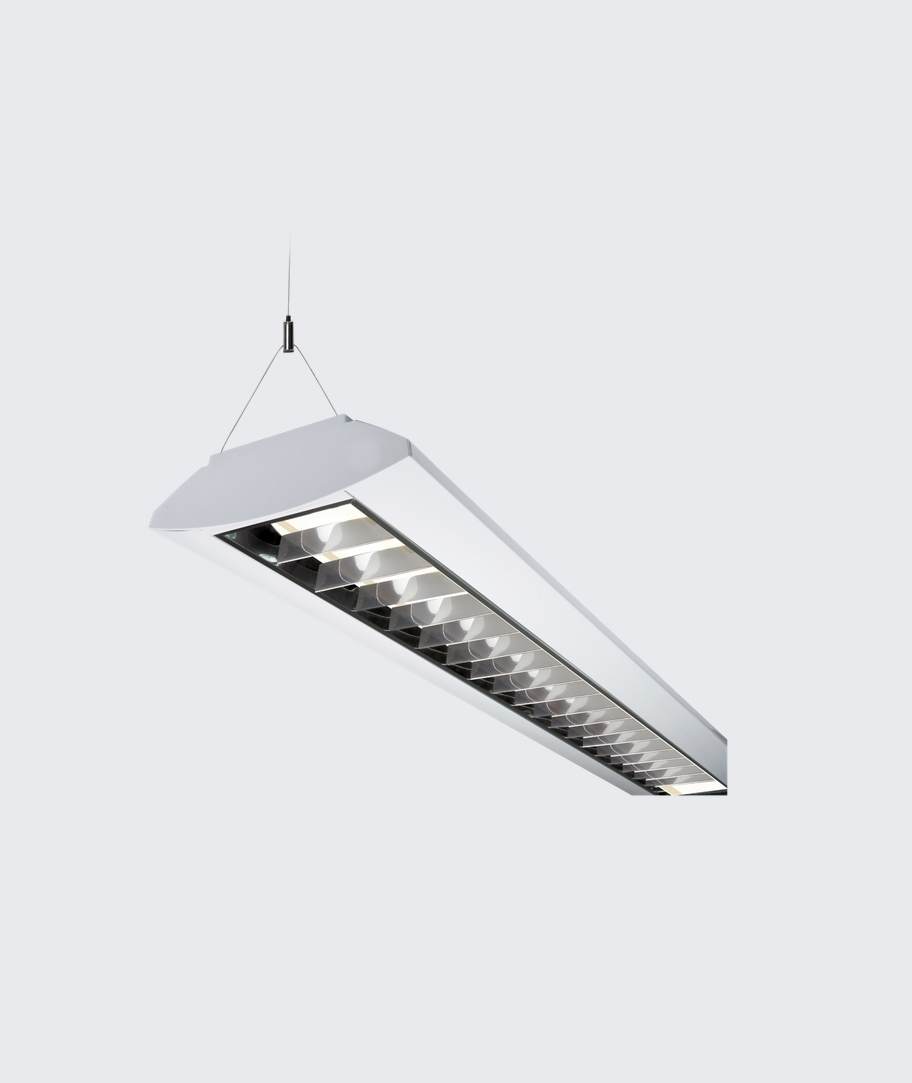 Surface Mounted Or Suspended Twin Fluorescent Fitting
