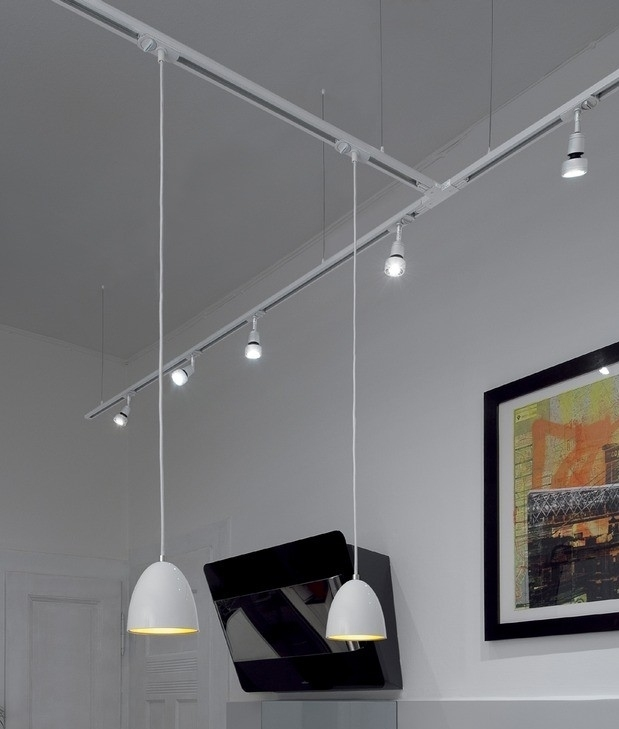 Ceiling Suspension For Single Circuit Track Black White