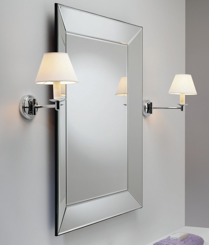 Classic Swing Arm Bathroom Light With Ip44 Rating For