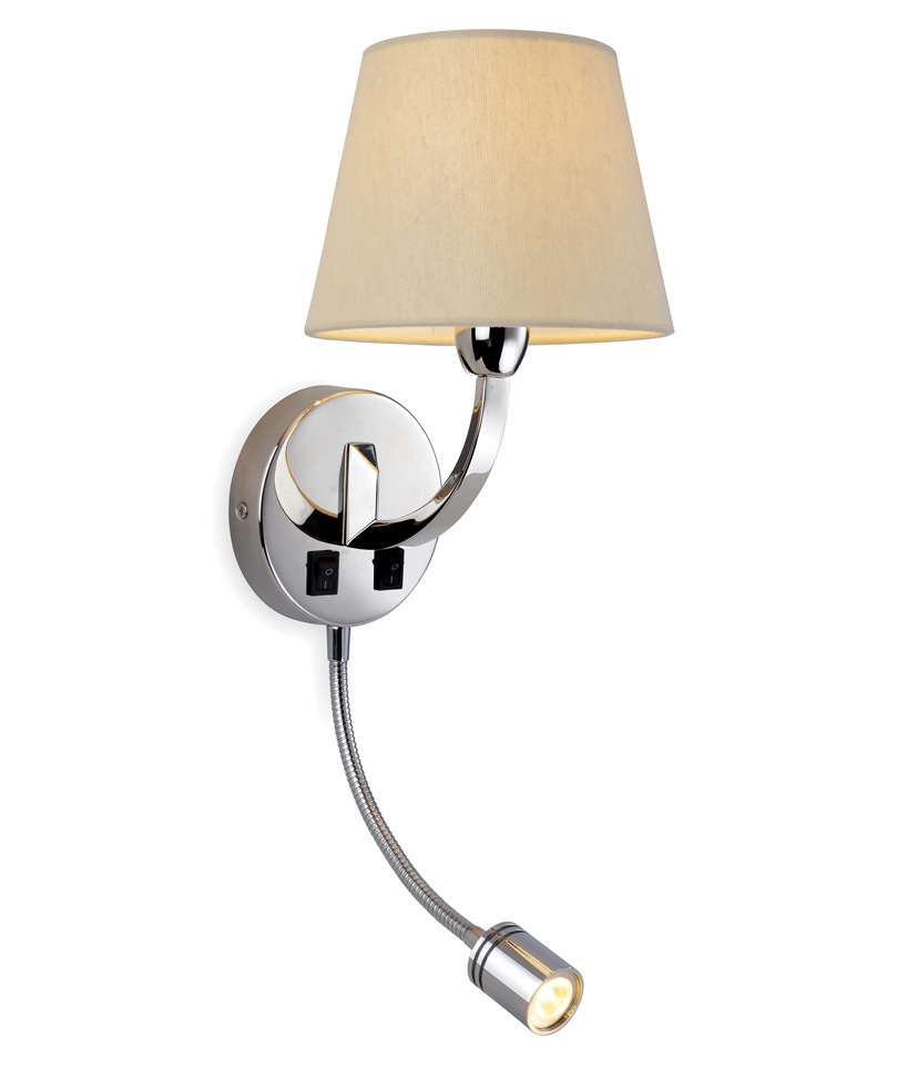 Chrome Wall Light with Adjustable LED Arm