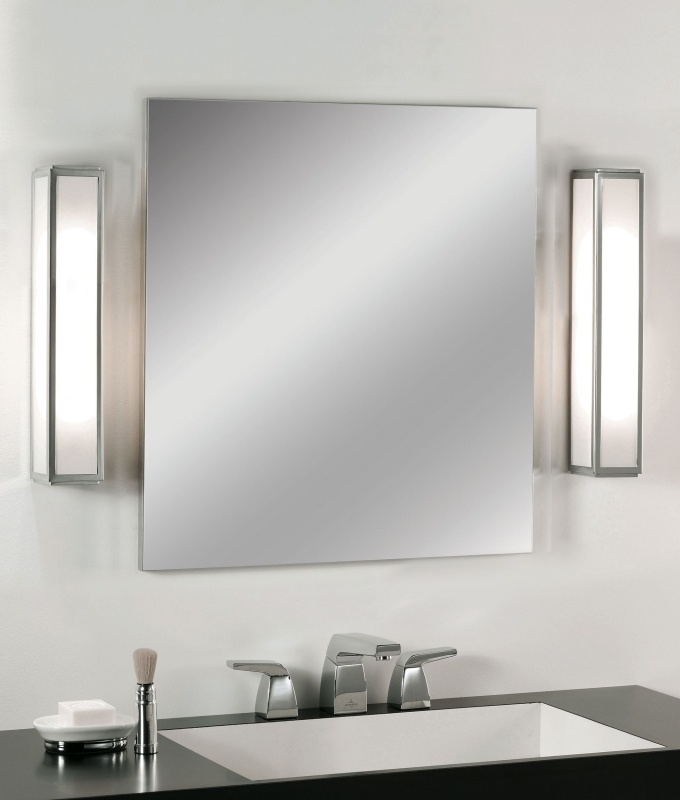 Tall Framed Bathroom Light For Mirror Or Wall Stylish Low Energy Wall Light In Art Deco Style