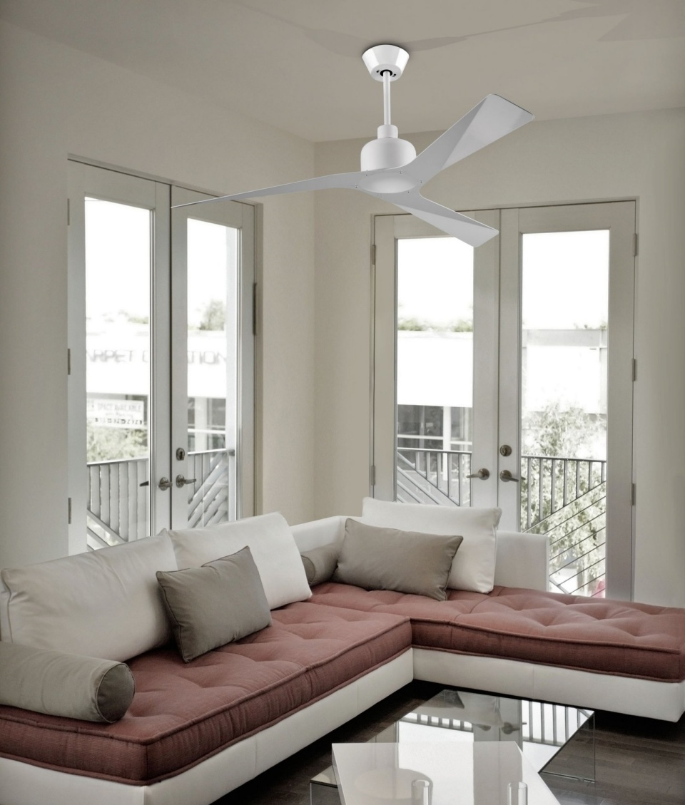 White Ultra Modern Ceiling Fan
