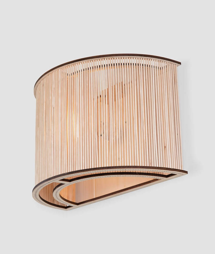 Wall Lights Wood : Wooden Cage Wall Light by Tom Raffield