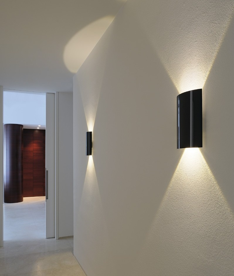 Led gloss up down wall light for Interior design lighting uk