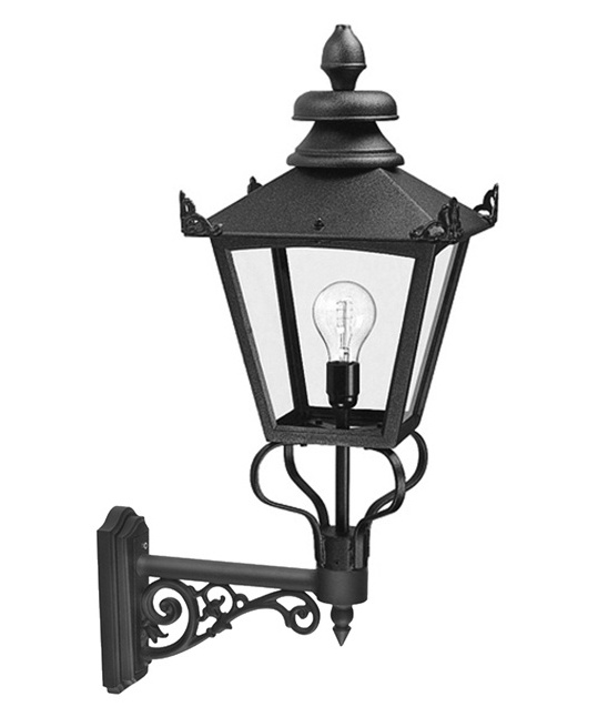 Large victorian bracket wall lantern for Victorian style exterior lighting