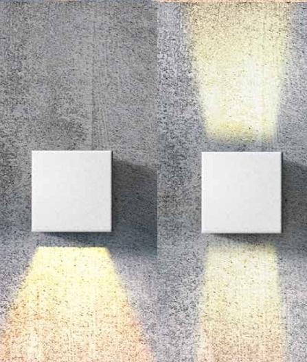 Adjustable Beam Interior Square Up Amp Down Wall Light