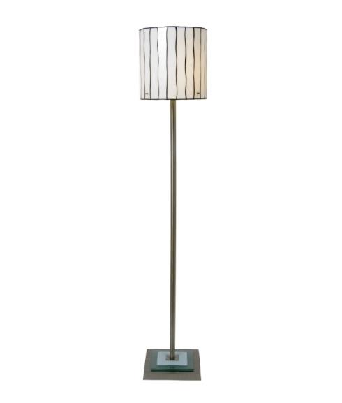 Modern Tiffany Floor Lamp Black White