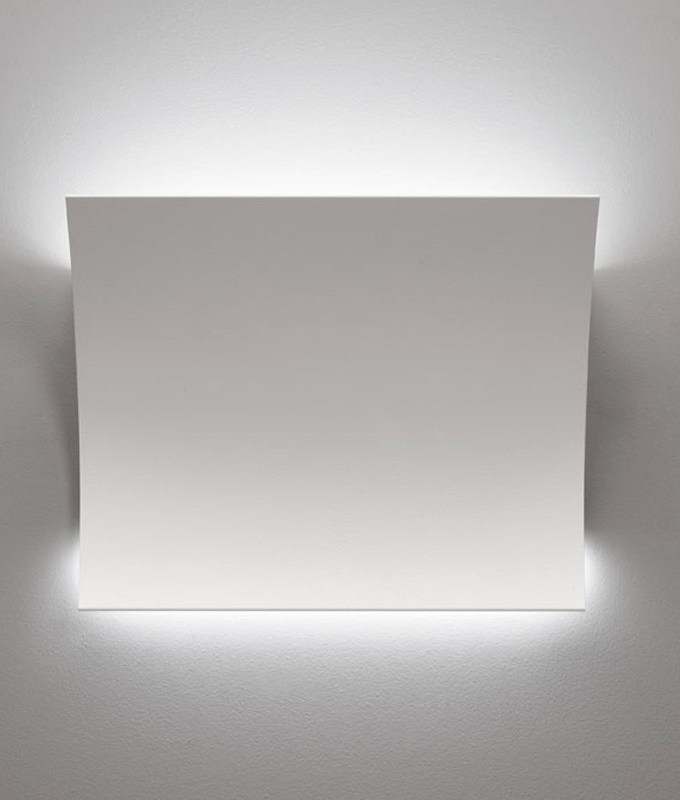 Wall Lights In White : LED Up & Down Sleek Matt White Wall Light