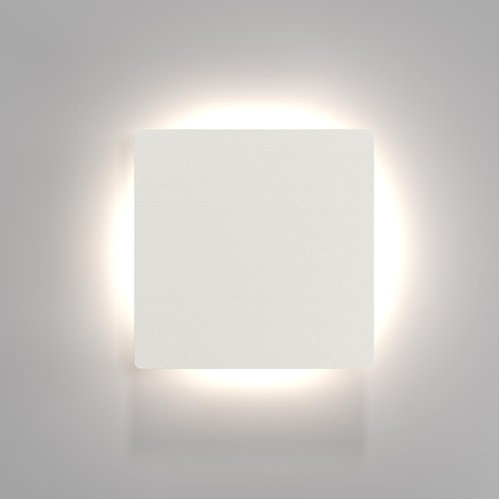 White Square Wall Lights : Square LED Wall Light IP44 - 3 Light Patterns