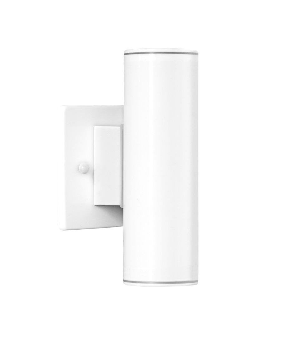 Exterior up down wall light in white for Exterior up down wall light