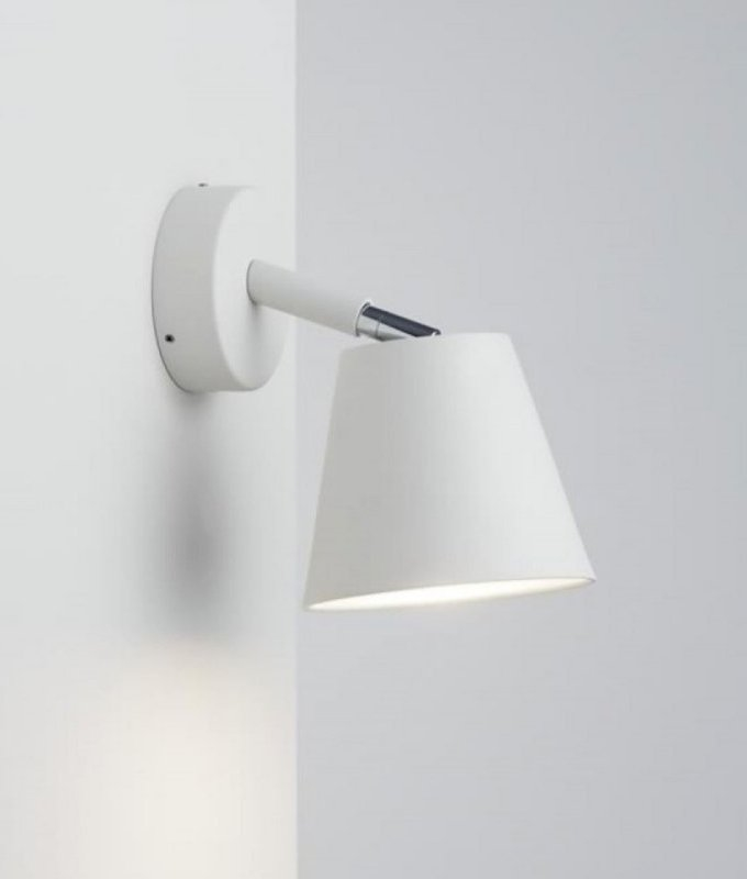 Conical Wall Light With Adjustable Metal Shade For Led