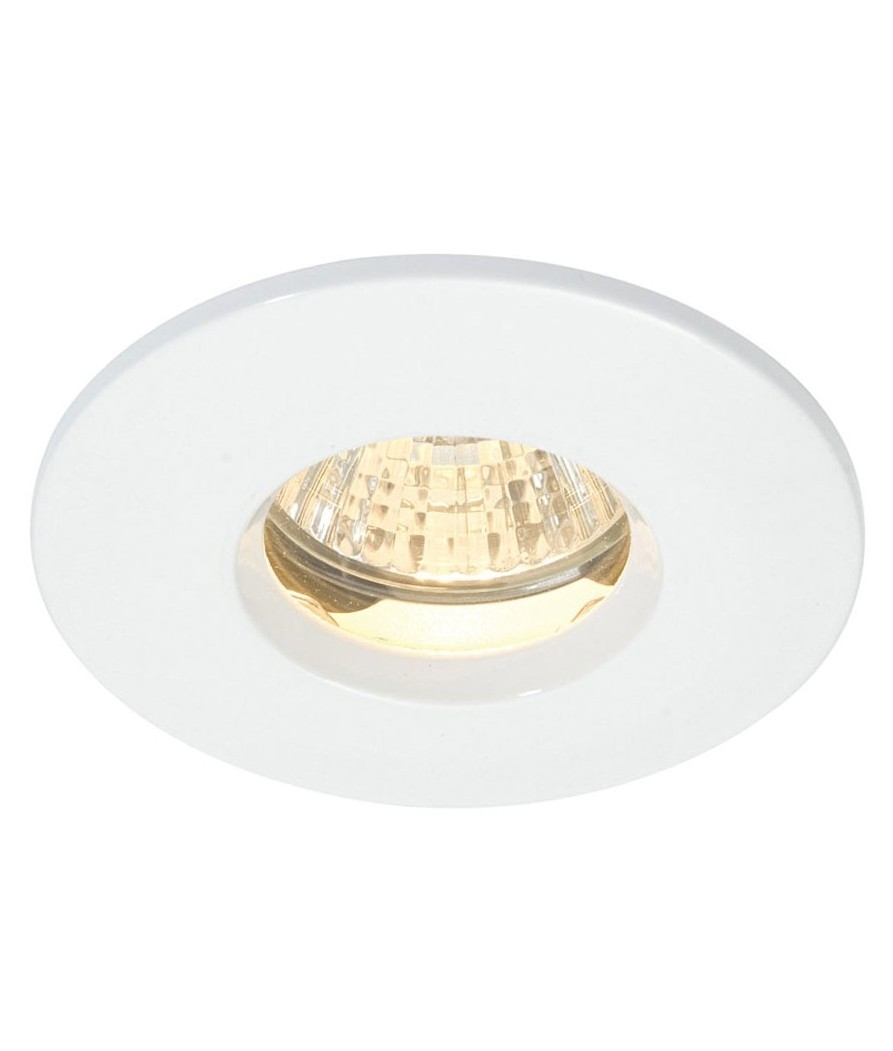 ip65 soffit downlight kit in white full installation kit with lamp and. Black Bedroom Furniture Sets. Home Design Ideas