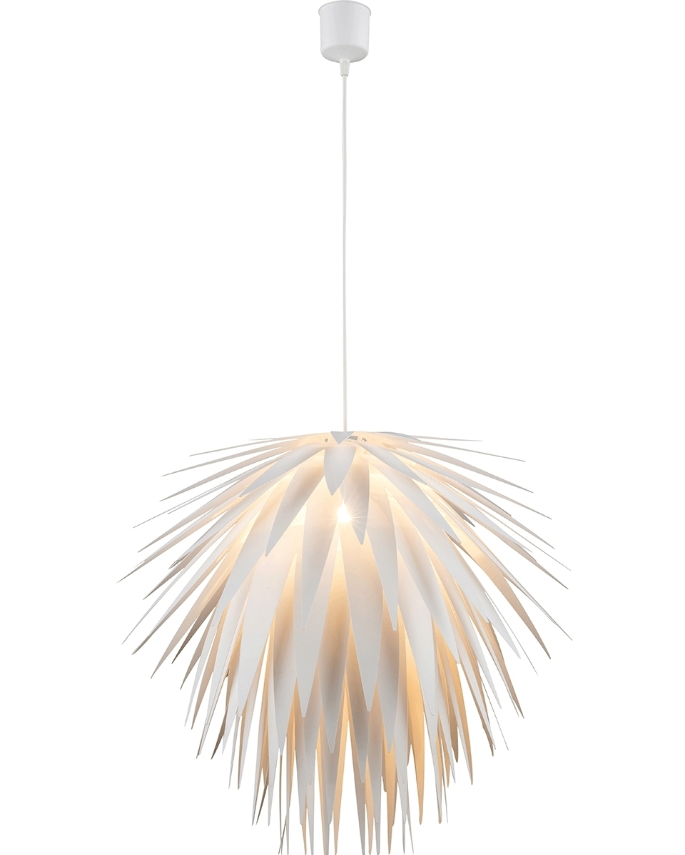 White Cordyline Spiked Light Fixture A Large Pendant For Modern Spaces