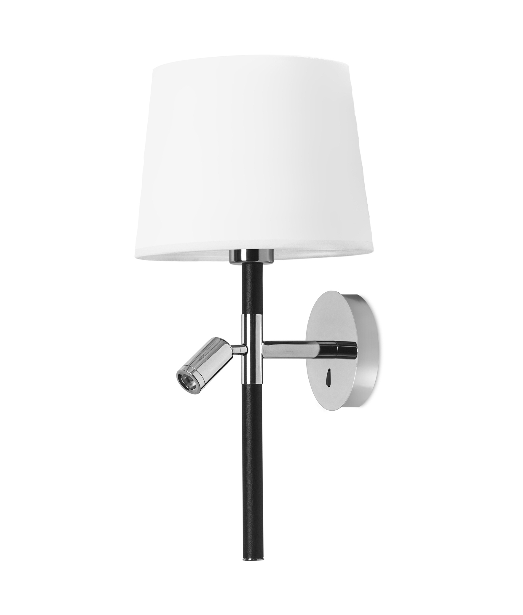 Bedside wall fixtures with built in reading light lighting styles slim chrome bedside luminaire with reading light mozeypictures Gallery