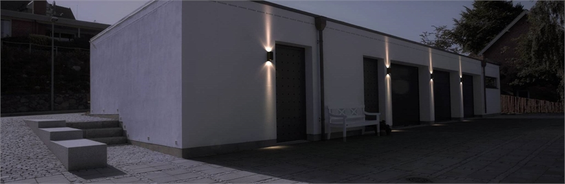 Exterior feature wall lights