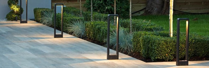 Exterior bollard lighting
