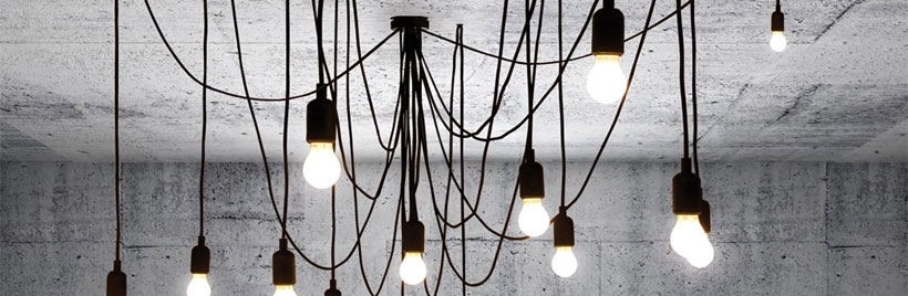 Multi drop pendant lights
