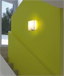 Modern White Bracket Fixed Wall Lantern