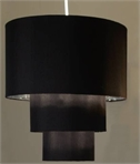 Three Tier Shade - Black with Silver Lining