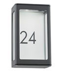 Anthracite LED Wall Light with Adhesive Number Decals