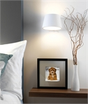 Bedside Wall Light in Natural Plaster with Switch