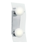 Polished Chrome & Opal Glass Wall Light