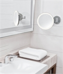 Circular IP44 LED Vanity Mirror - 5x Magnification