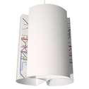 Penant Lightshade- with London Tube Map Design Classic Cog by Blue Marmalade