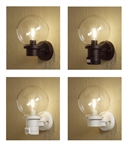 Exterior Globe Wall Light - Sensor Operated Versions