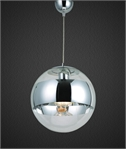 Chrome Mirror Ball Pendants - 2 Sizes