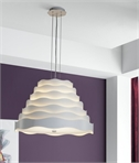 Modern Pendant - Overlapping Wave Design