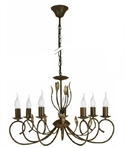 Ruby - Ornate 7 Arm Chandelier