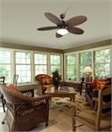 Rattan Style Ceiling Fan with Light