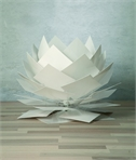 Silver Water Lily Table Lamp Dia: 350mm