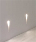 Recessed Plaster Step Light: Flame