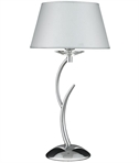 Stag Table Lamp with Fabric Shade